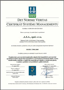 .A.S.A. obtains new certificate according to ISO 270001