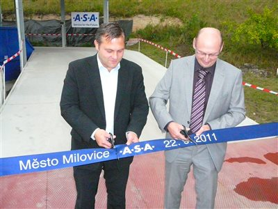 Milovice opened a new collecting yard