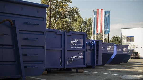 Containers at FCC location in Graz