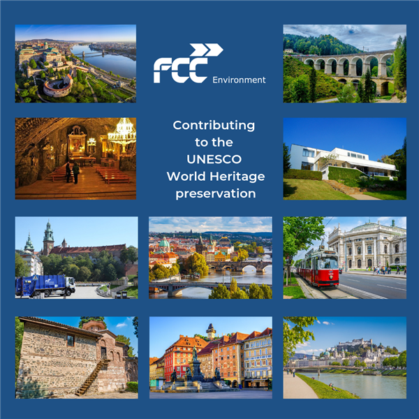 UNESCO cities supported by FCC Environment CEE services