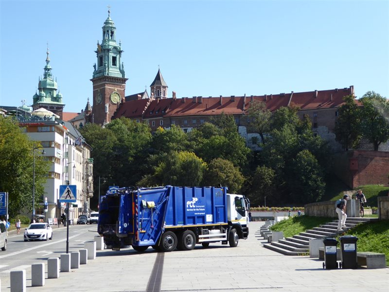 FCC Environment CEE waste collection in Krakow, Poland