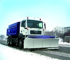 snow plough for winter maintenance