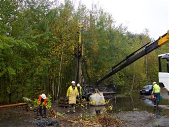 Remediation Milevsko: Drilling works