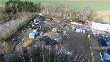 FCC Remediation project Milevsko: during the process