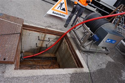 """FCC successfully validated the Drainage Cleaning System from """"Assets4Rail"""" in an Austrian Tunnel"""